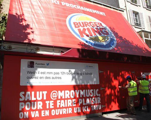 Tweet Burger King Paris